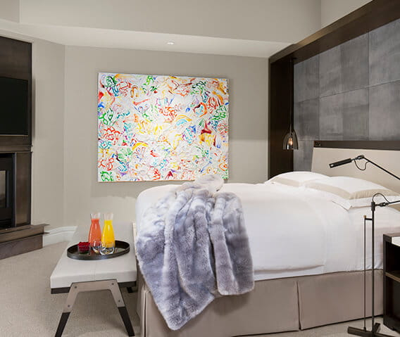 the little nell  aspen roch suite bedroom