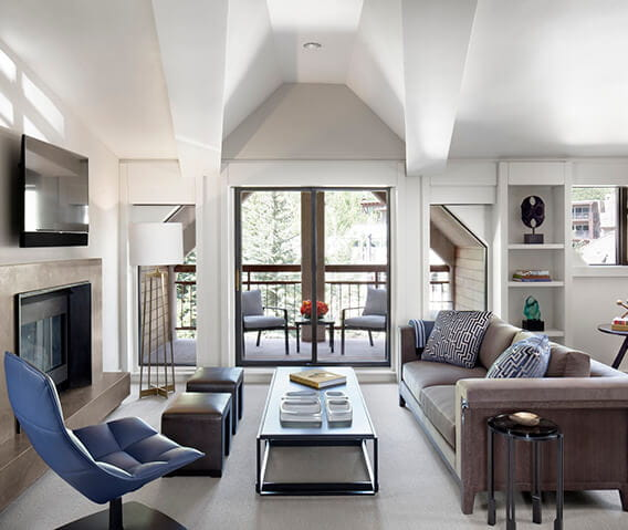 the little nell  aspen roch suite livingroom