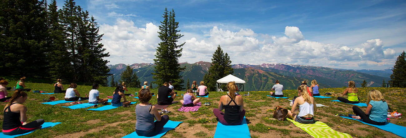Aspen yoga studio, Shakti Shala, hosts yoga classes on top of Aspen Mountain every summer season.