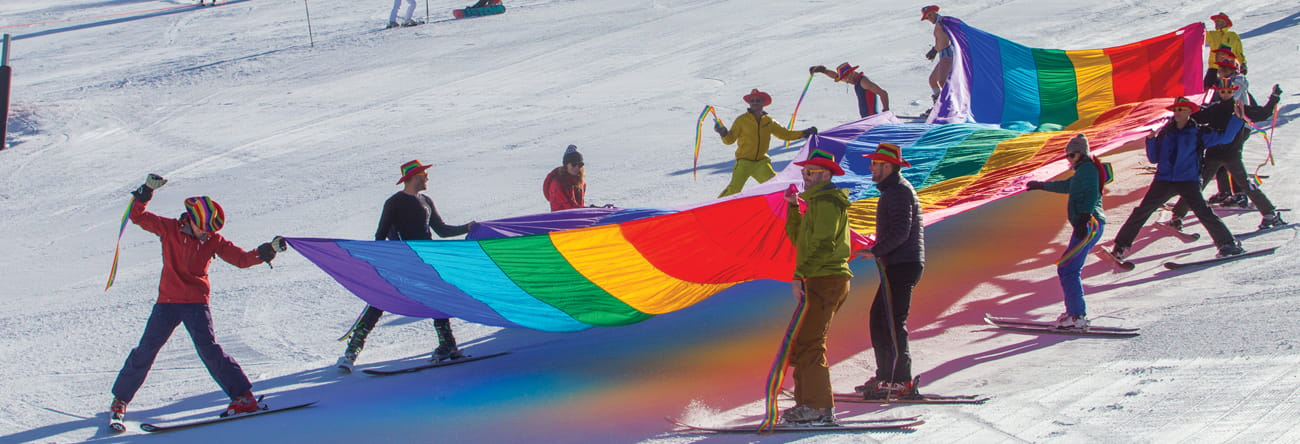 gay ski week in aspen, colorado at the little nell