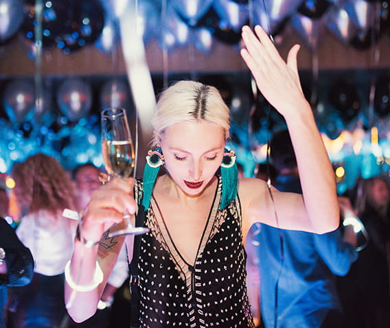 the dom perignon party at the little nell