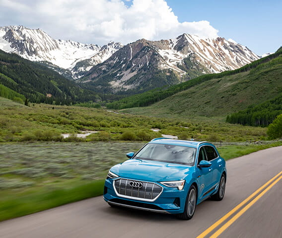 Guests at The Little Nell can take advantage of the Audi Test Drive Program and drive the all-electric Audi e-tron SUV around Aspen, Colorado.