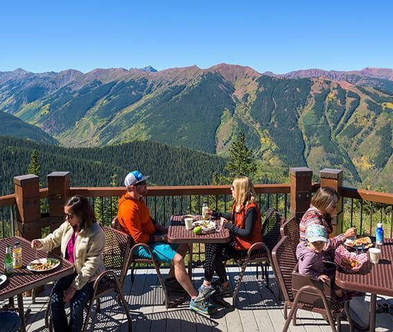 Mountain View Restaurant At Cheyenne Mountain Colorado: Sundeck Atop Aspen Mountain