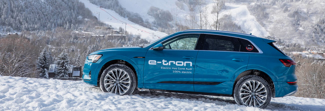 Audi e-tron on snow in Aspen, Colorado