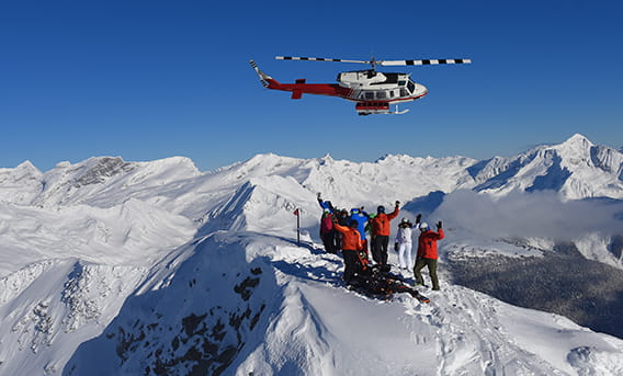 canadian mountain holidays heli skiing