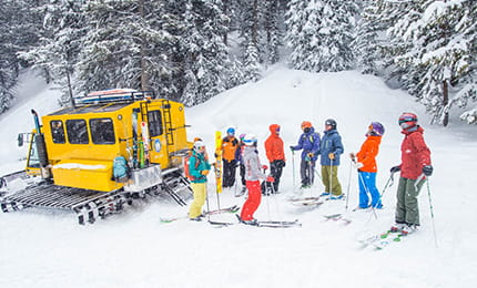 snowcat powder skiiing aspen mountain