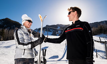 Ski Concierge service at the base of Aspen Mountain