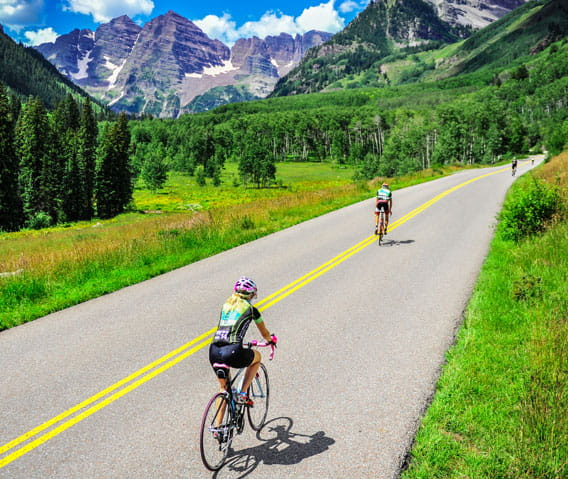 biking in aspen, colorado
