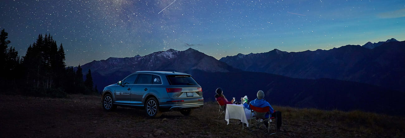 Audi Q7 stargazing at The Little Nell