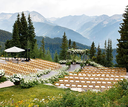 Click here to learn more about the Aspen Mountain Wedding Deck, The Little Nell's premier wedding ceremony venue.