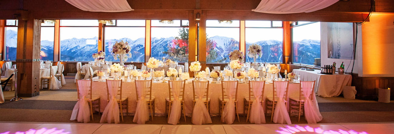 aspen mountain sundeck wedding