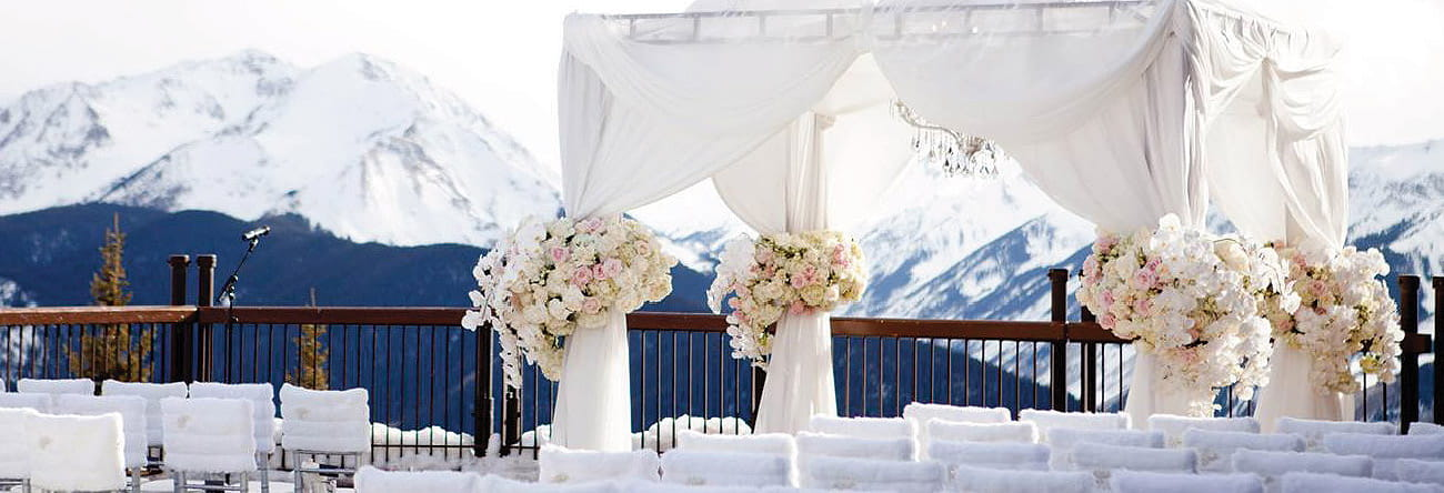 Winter weddings the little nell winter weddings aspen winter weddings aspen junglespirit Image collections