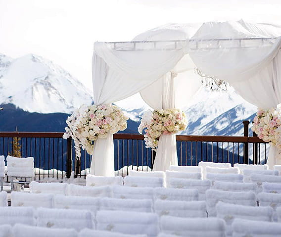 Winter Wedding Ceremony Ideas: The Little Nell