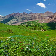 Summertime on West Maroon Pass near Aspen, Colorado