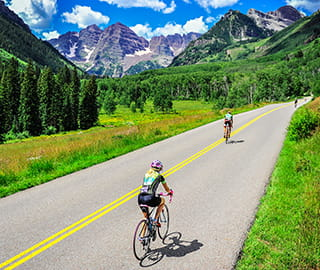 cycling maroon bells aspen