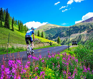 Cycling independence pass aspen