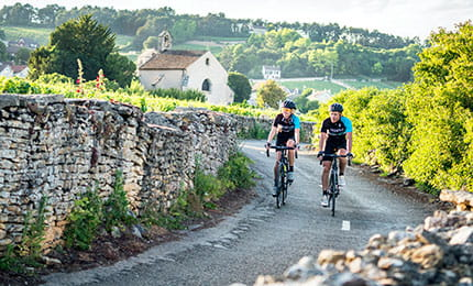cycling in burgundy france