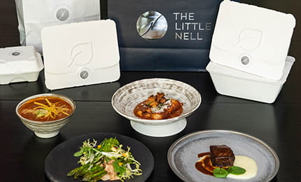 A selection of menu items on The Little Nell's Nourish by The Nell to go menu.