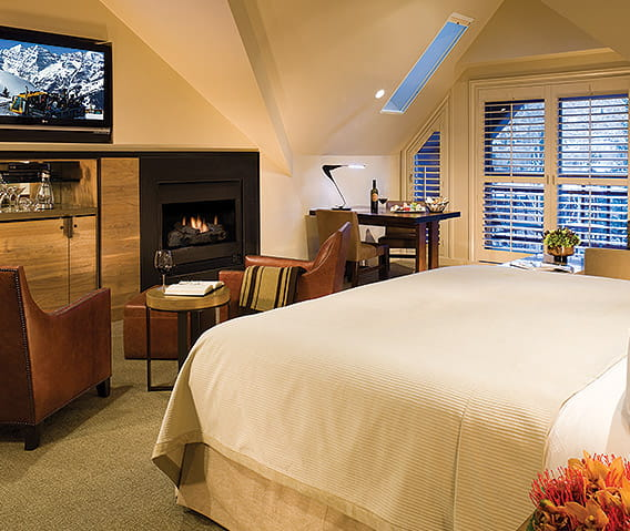 premium mountain side guest room