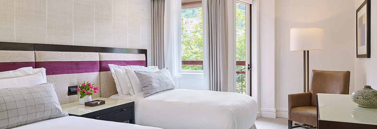 two bedroom.  two bedroom town side suite double beds the little nell Two Bedroom Town Side Suites Aspen The Little Nell