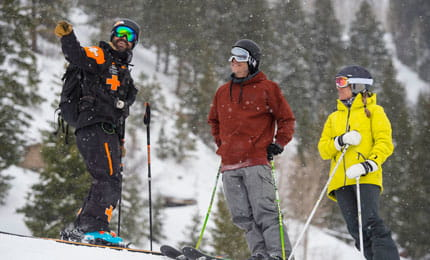 ski patrol sweep on aspen mountain