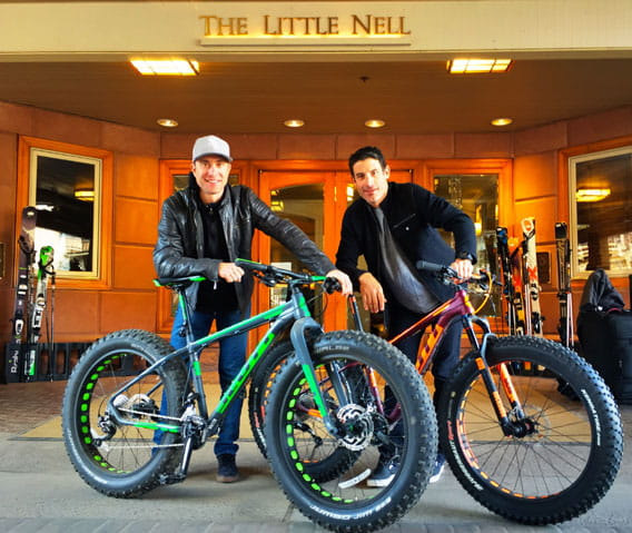 scott bikes at the little nell in aspen
