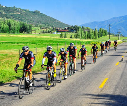 clip-in with christian cycling camp at the little nell in aspen
