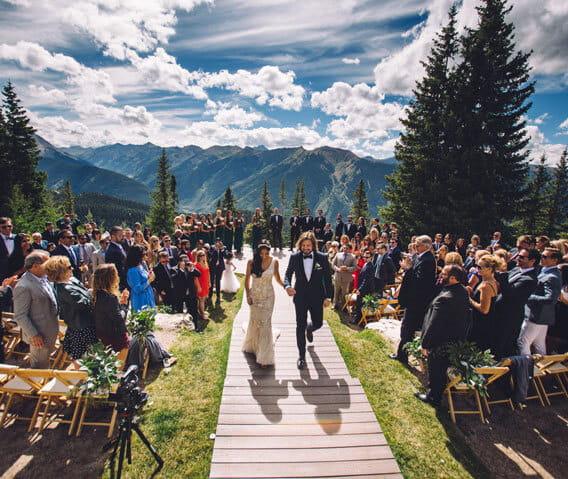 Mountain Wedding Ceremony: Spectacular Scenic Aspen Weddings