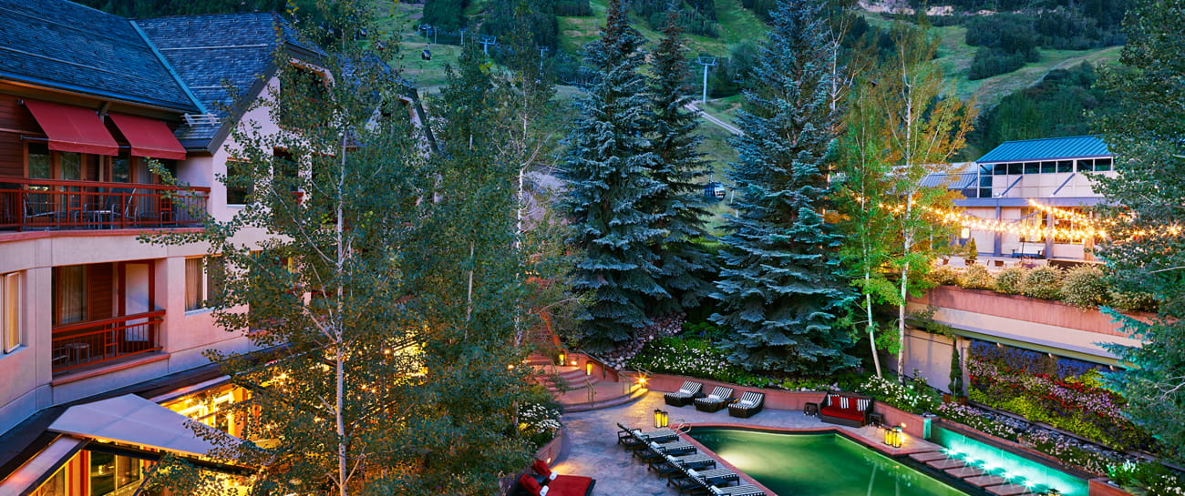 the little nell aspen colorado hotel summer exterior